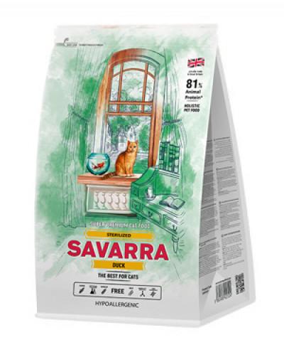 SAVARRA Sterilized Cat Сухой корм для взрослых кошек стерилизованных 2кг Утка/рис арт.100167