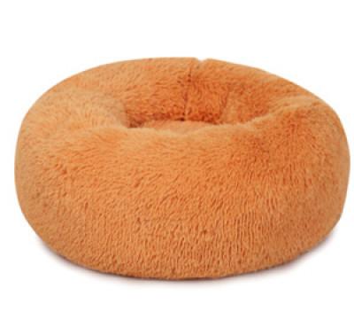 PERSEILINE Лежанка ВИНЧИ мягкая круглая пухлая 58х20 оранжевая арт.100451