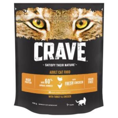 Crave сухой корм для кошек с курицей и индейкой 750 г арт. 100810