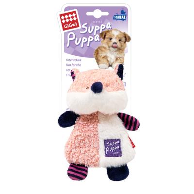 -GiGwi Suppa Puppa игрушка для щенков Лиса с пищалкой 17,5 см арт.100910