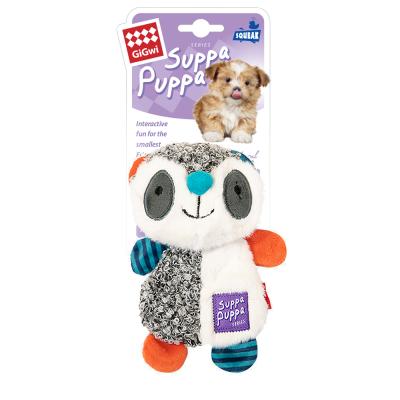 -GiGwi Suppa Puppa игрушка для щенков Енот с пищалкой 17,5 см арт.100911