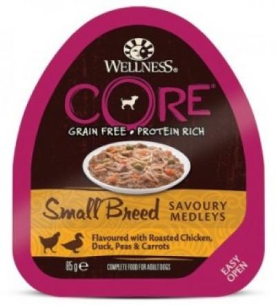 CORE SMALL BREED консервы из курицы с уткой, горошком и морковью для собак мелких пород 85 г арт.10453