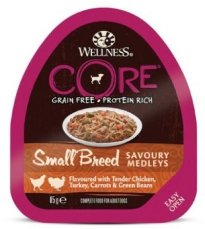CORE SMALL BREED консервы из курицы с индейкой, морковью и зеленой фасолью для собак мелких пород 85 г арт.10454