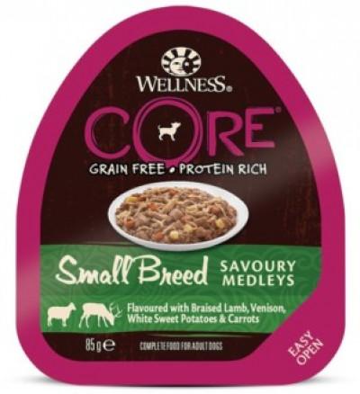CORE SMALL BREED консервы из баранины с олениной, белым сладким картофелем и морковью для собак мелких пород 85 г арт.10456