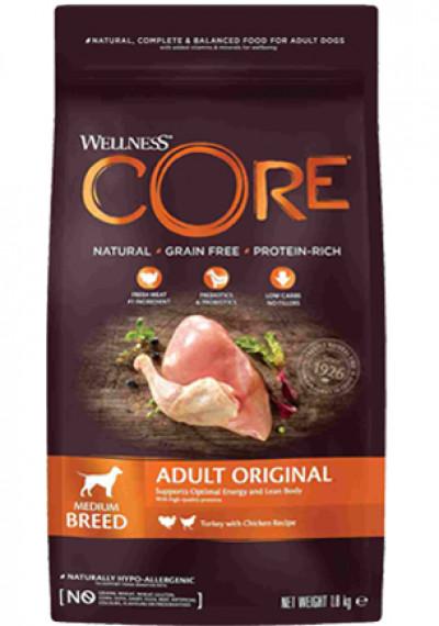 CORE Корм из индейки с курицей для взрослых собак средних пород 1,8 кг арт. 10749
