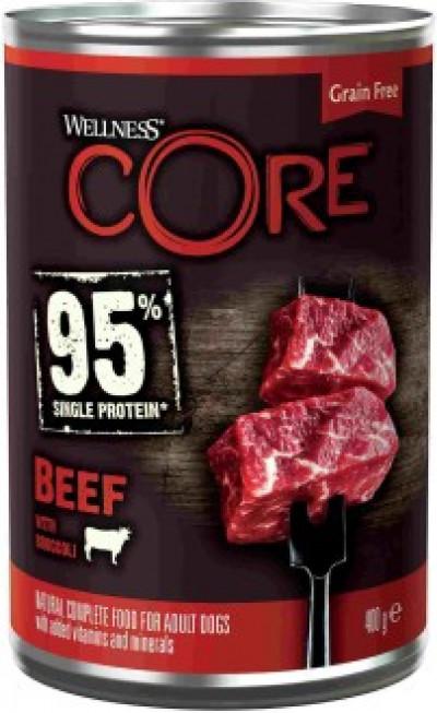 CORE 95 консервы из говядины с брокколи для взрослых собак 400 г арт.10857