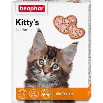 -Беафар Витамины для котят Kitty Junior сердечки 150 шт