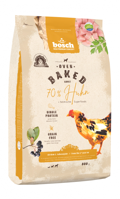 -Bosch HPC Oven Baked Huhn Сухой запеченный корм с курицей для собак 0,8 кг арт.150456