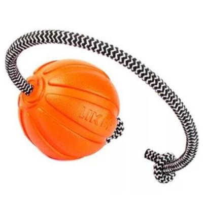 LIKER Мячик Лайкер Корд на шнуре, диаметр 5 см, оранжевый