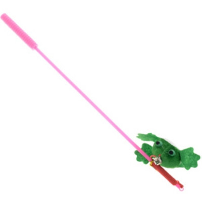 """V.I.Pet Дразнилка-удочка с игрушкой """"лягушка"""""""