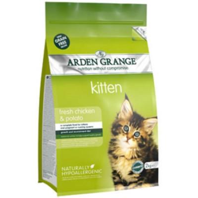 Арден Грэньдж (Arden Grange) Корм сухой беззерновой для котят Курица и Картофель 2кг арт.AG611282