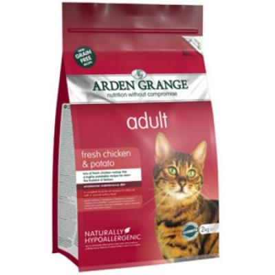Арден Грэньдж (Arden Grange) Корм сухой беззерновой для взрослых кошек Курица и Картофель 2кг арт.AG612289.