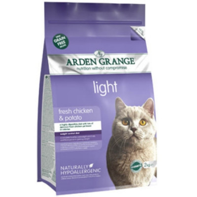 Арден Грэньдж (Arden Grange) Корм сухой беззерновой для взрослых кошек диетический Курица и Картофель 4кг арт.AG614368
