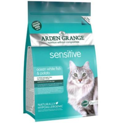 Арден Грэньдж (Arden Grange) Корм сухой беззерновой для взрослых кошек с чувствительным желудком 400гр арт.AG618236