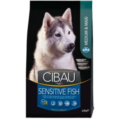 Фармина (FARMINA CIBAU SENSITIVE) для собак рыба Медиум Макси 2,5кг