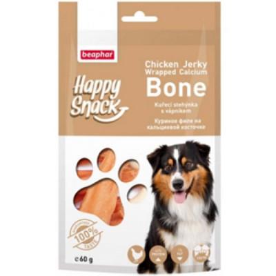 -Беафар Лакомство для собак Куриное филе на кальциевой косточке Happy Snack 60г