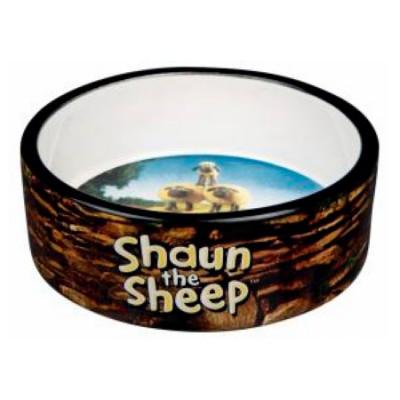 TRIXIE Миска керамическая Shaun the Sheep 0.8 л 16 см коричневая