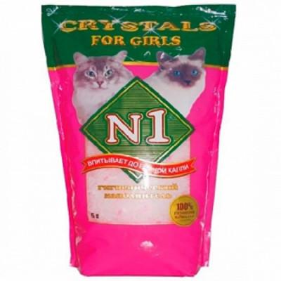 Наполнитель №1 Crystals For Girls - силикагелевый 30л (розовый)