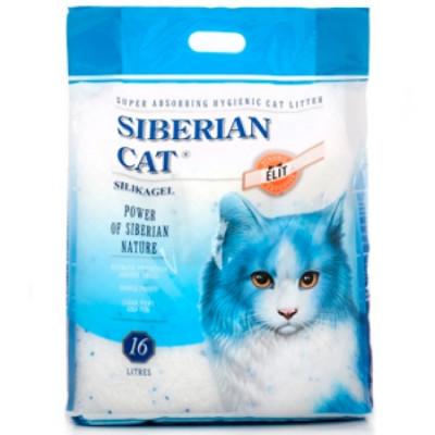 Сибирская Кошка Наполнитель Элита 16л силикагель (синие гранулы)