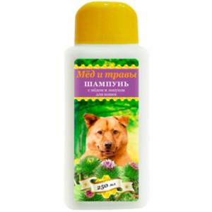 Пчелодар Шампунь с мёдом и лопухом для собак 250мл
