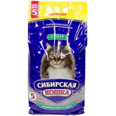 Сибирская Кошка Наполнитель Супер 5л комкующийся