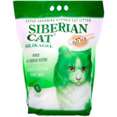 Сибирская Кошка Наполнитель Элита ЭКО 8л (зеленые гранулы)