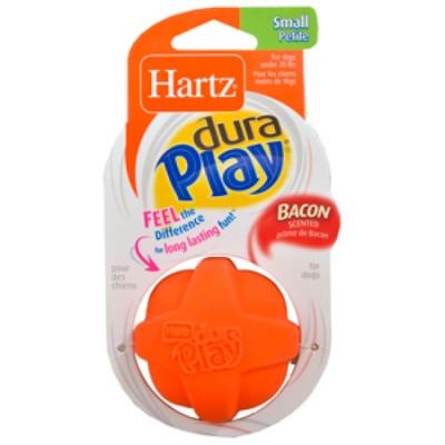 Hartz Игрушка для собак Мяч рельефный латекс с наполнителем, запах бекона