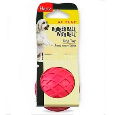 Hartz Игрушка для собак Мяч с колокольчиком, каучук