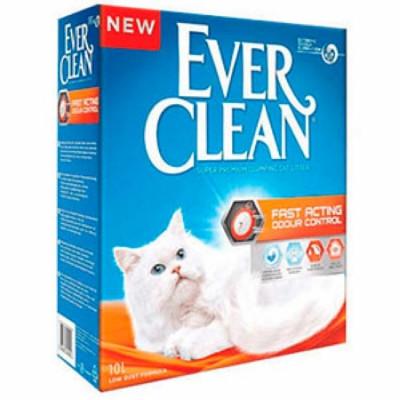 EVER CLEAN Fast Acting Мгновенный контроль запахов комкующийся наполнитель для кошек 10л