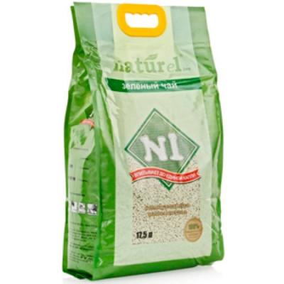 """Наполнитель №1 NATUReL """"Зеленый чай """" комкующийся 17,5л"""