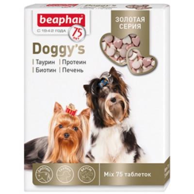 Беафар Золотая линейка Витамины для собак смесь Doggy's MIX 75т