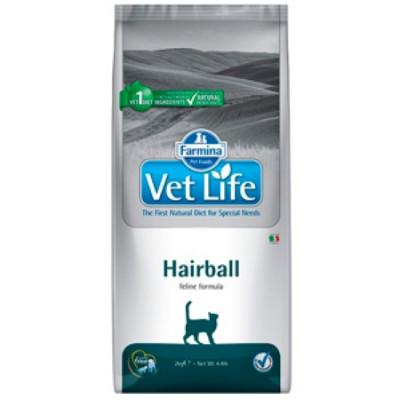 Фармина (FARMINA Vet Life Hairball) корм для кошек снижает образование и способствует выведению шерстяных комочков из ЖКТ 10кг
