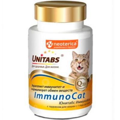 UNITABS ImmunoCat с Q10 Витамины для кошек с Таурином 120таб