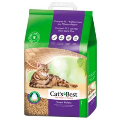 Наполнитель Cat's Best Smart Pellets 20л 10кг Древесный комкующийся