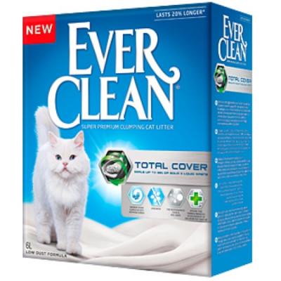 EVER CLEAN Total Cover комкующийся наполнитель для кошачьих туалетов 10л