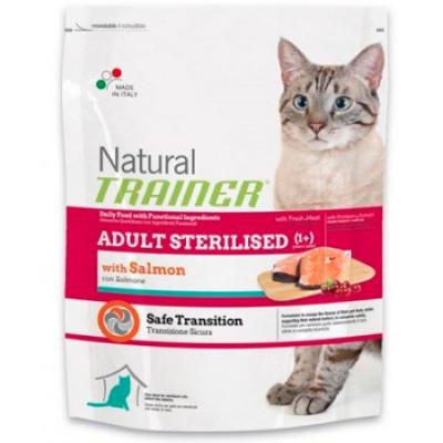 -Trainer Сухой корм Natural Adult Sterilised для взрослых кастрированных кошек с лососем 300гр