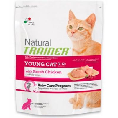 -Trainer Сухой корм Natural Young Cat для молодых кошек от 7 до 12 месяцев 1,5кг