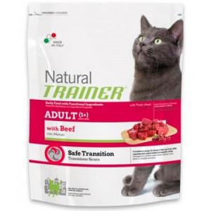 -Trainer Сухой корм Natural Adult Beef для взрослых кошек с говядиной 1,5кг