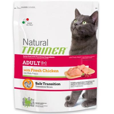 -Trainer Сухой корм Natural Adult Fresh Chicken для взрослых кошек со свежим мясом курицы 300гр