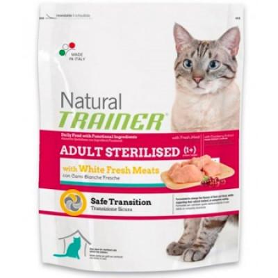 -Trainer Сухой корм Natural Adult Sterilised для взрослых кастрированных кошек со свежим белым мясом 1,5кг