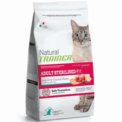 -Trainer Сухой корм Natural Adult Sterilised для взрослых кастрированных кошек с сыровяленой ветчиной 1,5кг