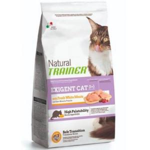 -Trainer Сухой корм Natural Exigent Cat для привередливых кошек со свежим белым мясом 1,5кг