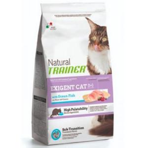 -Trainer Сухой корм Natural Exigent Cat для привередливых кошек с океанической рыбой 1,5кг