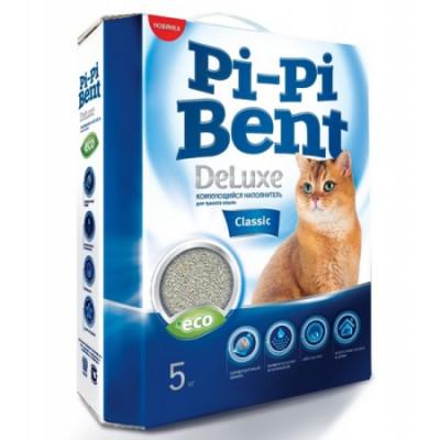 Наполнитель Pi-Pi-Bent DeLuxe Classic комкующийся для кошек 5кг