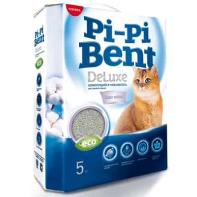 Наполнитель Pi-Pi-Bent DeLuxe Clean cotton комкующийся для кошек 5кг