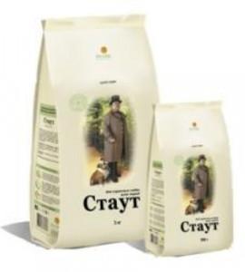 СТАУТ Корм сухой для взрослых собак ягненок рис 15 кг