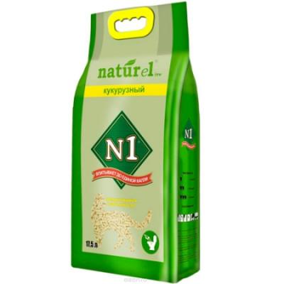 Наполнитель №1 NATUReL Кукурузный комкующийся 17,5л