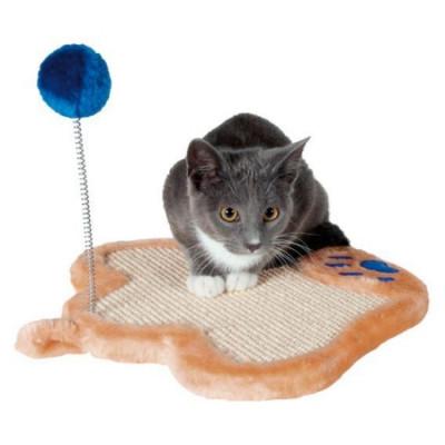 """TRIXIE Когтеточка для кошек """"Лапка с игрушкой""""  плюш 36х34см"""