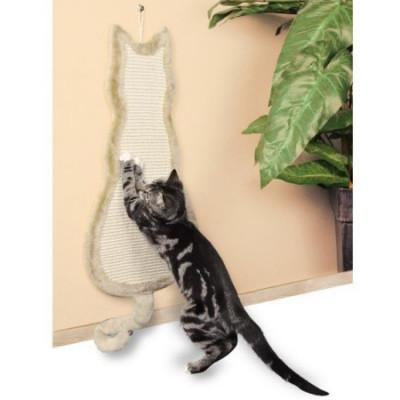 """TRIXIE Когтеточка для кошек """"Кошка"""" бежевая 35х69см"""