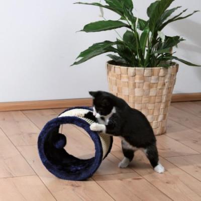 """TRIXIE Когтеточка для кошек """"Колесо"""" темно-синяя  сизаль плюш ф23смх20см"""